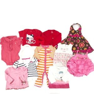 Baby Girl Clothing Bundle Size 6 Months